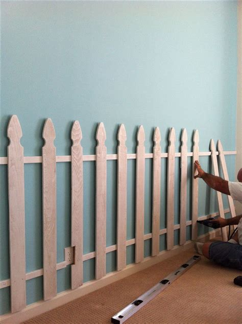 Picket Fence Bedroom Decorating Ideas by Picket Fence As A Bedroom Wall Decor Home Decor