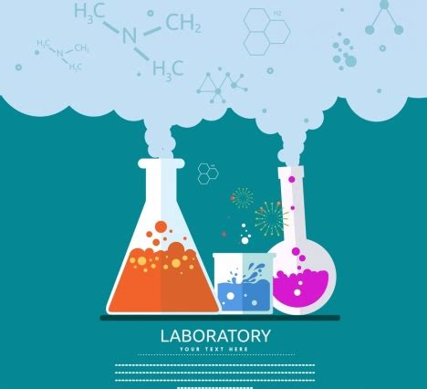 design experiment chemistry spm laboratory experiment banner chemical reaction icons