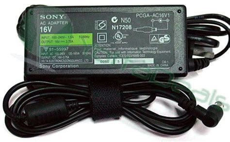 Adaptor Sony Vaio Pcg 505ex C1f Gr Sr17 Srx41p Z1a1 16v 4a Adlson1 sony original pcga ac16v1 ac adapter 16v 3 75a 60w for vaio pcg 505 pcg v505 pcg z1a pcg gr300