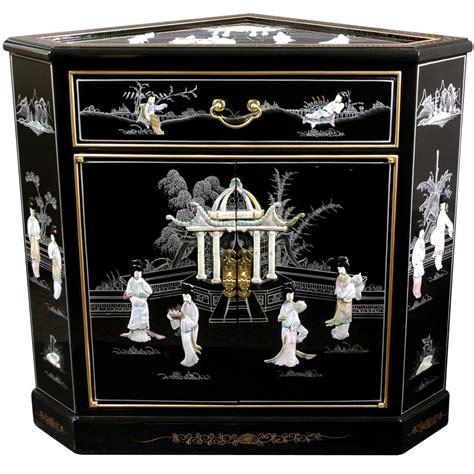 oriental black lacquer cabinet oriental furniture lacquer corner cabinet black mother of