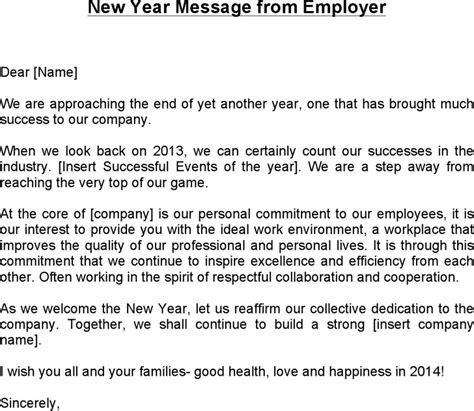 download new year message from employer for free tidyform