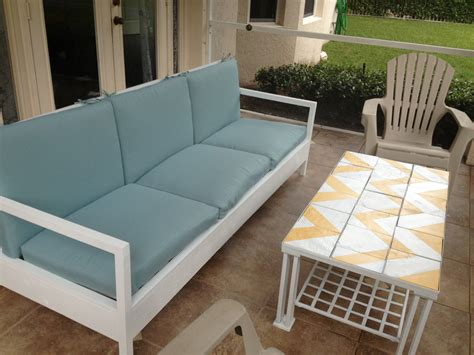 patio sofa bed ana white simple white patio sofa diy projects