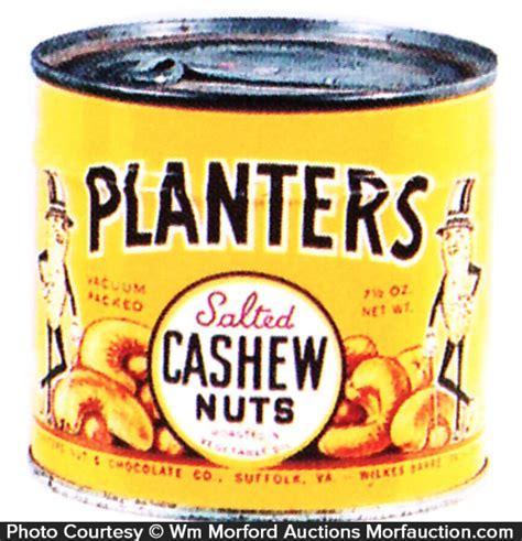 Planters Cashew by Antique Advertising Planters Cashew Tin Antique