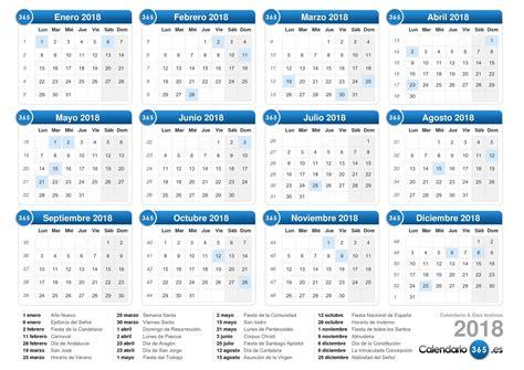 El Salvador Calendrier 2018 Calendario 2018