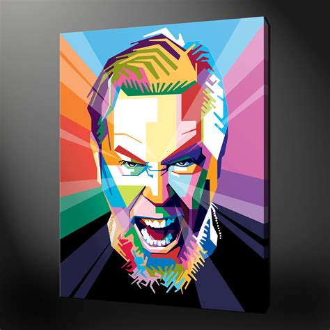 Contemporary Kit Home Design james hetfield metallica canvas print picture wall art