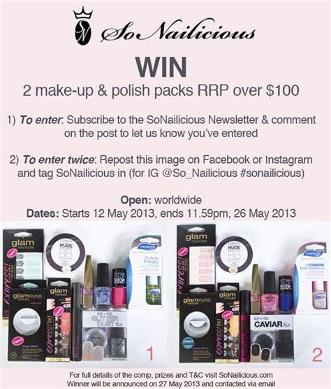 sonailicious giveaway 2 makeup and nail polish packs sonailicious - Nail Polish Giveaway