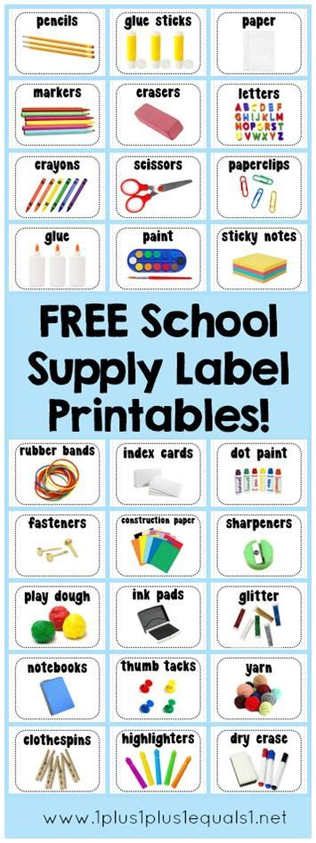 printable labels for kindergarten classroom school supply labels free printables over 40 supplies