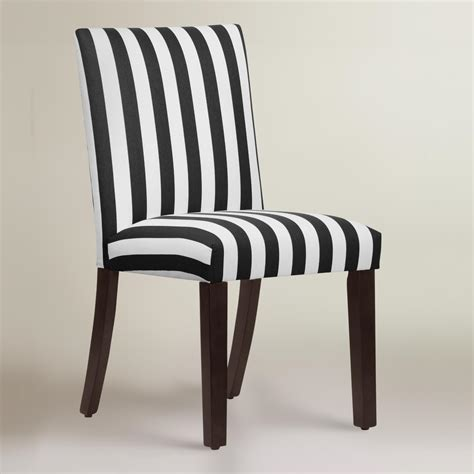 Striped Upholstered Dining Chairs Canopy Stripe Kerri Upholstered Dining Chair World Market