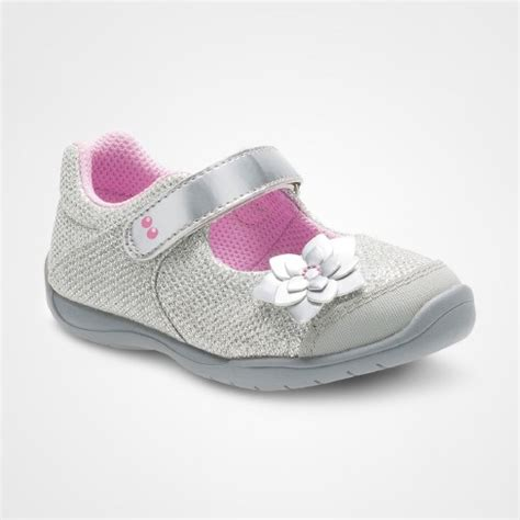 toddler house slippers girl toddler girls surprize by stride rite 174 katelyn mary jane shoes silver target
