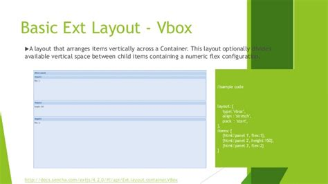 javascript layout container sencha extjs learning part 1 layout and container in