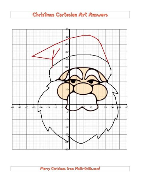 free printable holiday math worksheets middle school santa claus is coming to town christmas cartesian art
