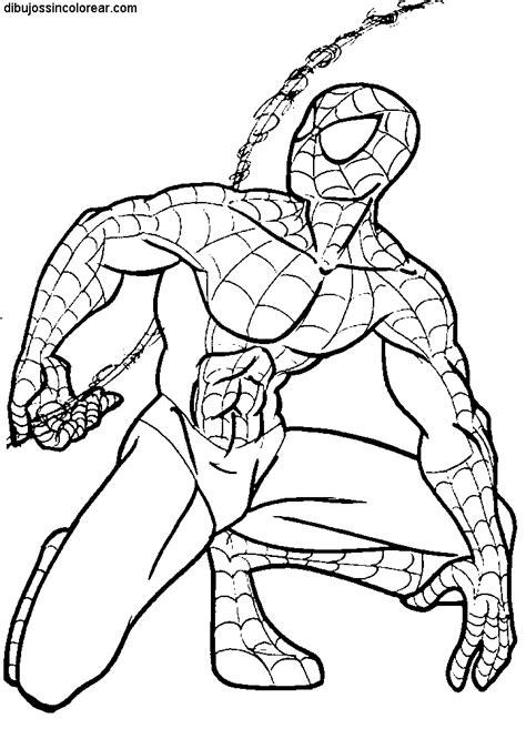 imagenes para colorear spiderman dibujos de spiderman el hombre araa para colorear y pintar