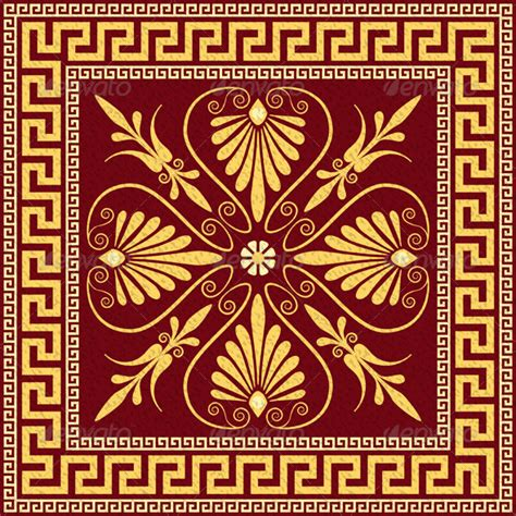 greek pattern pinterest vector traditional vintage gold greek ornament by