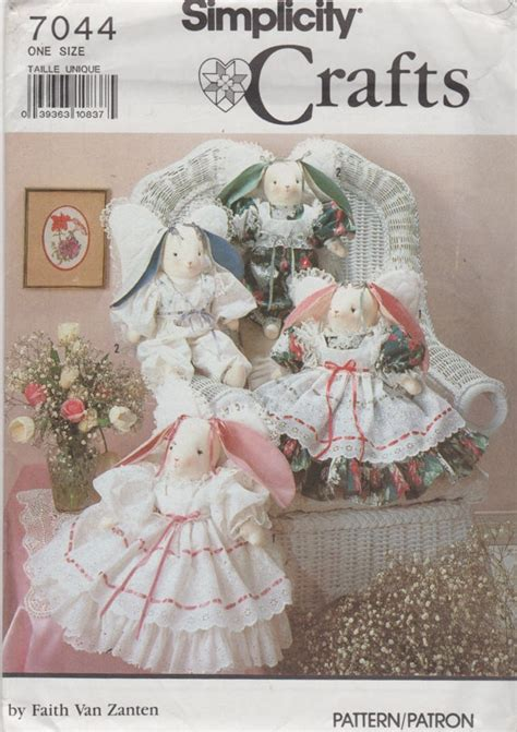 rabbit pattern clothes simplicity 7044 decorative angel bunnies and bunny doll