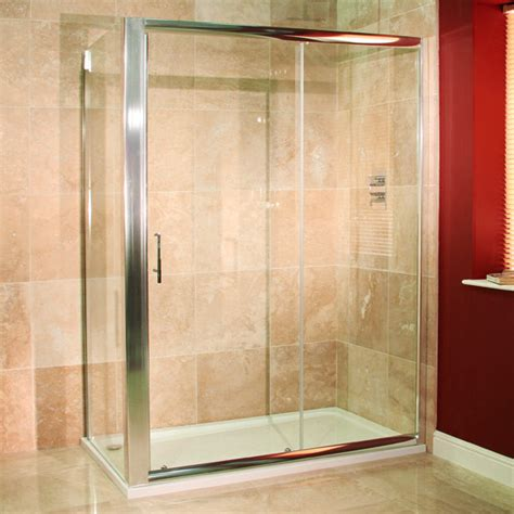 Shower Door 900 Reversible 6mm 1400 X 900 Sliding Door Shower Enclosure