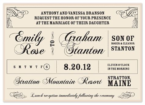 Wedding Announcement Washington Post by Wedding Invitations Vintage Announcement At Minted