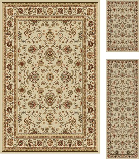 area rug and runner sets traditional 3 pcs area rug set vines border runner mat 3 color options ebay