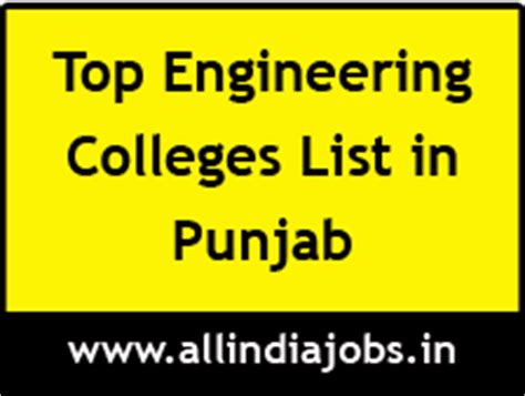 Top Mba Colleges In Punjab by Top Engineering Colleges In Punjab Freshers