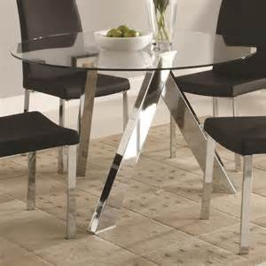 Dining Room Table Base For Glass Top 39 Modern Glass Dining Room Table Ideas