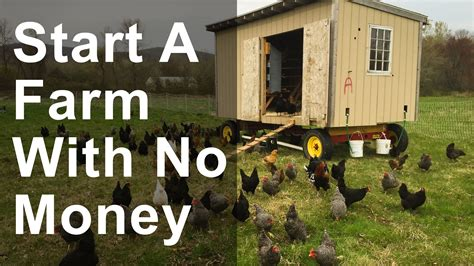 how to start to build a house how to start a farm with no money youtube
