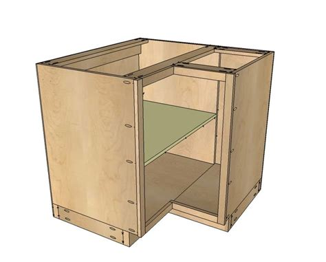 kitchen corner cabinet plans ana white build a 36 quot corner base easy reach kitchen cabinet basic model free and easy diy