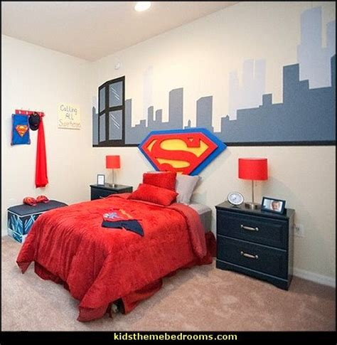superhero bedroom decor decorating theme bedrooms maries manor superman bedroom