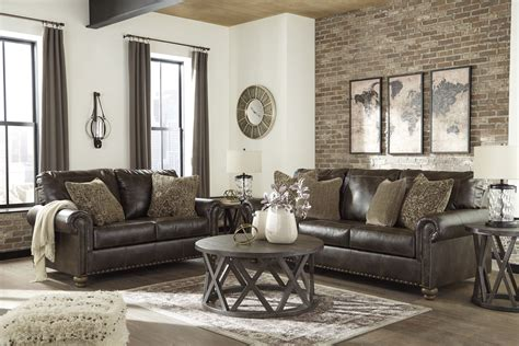 Traditional Table Ls For Living Room - nicorvo 2pc sofa living room set in coffee traditional