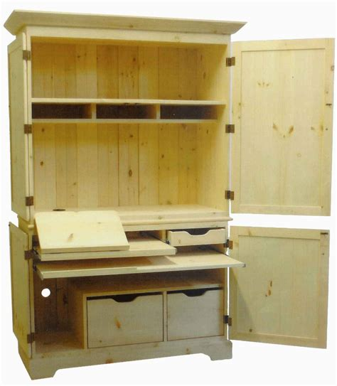 Diy Mission Computer Desk Plans Plans Free Computer Armoire Plans