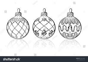 vector sketch three christmas balls on stock vector