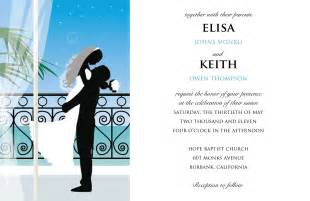 Sample wedding invitation card as an extra compilation of your wedding