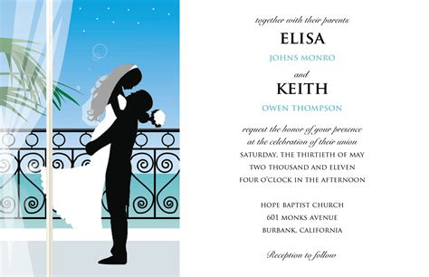 Credit Card Wedding Invitation Template wedding invitation wording wedding invitation cards