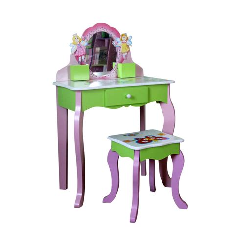 Childrens Dressing Table And Stool by Children Vanity Butterfly Dressing Table