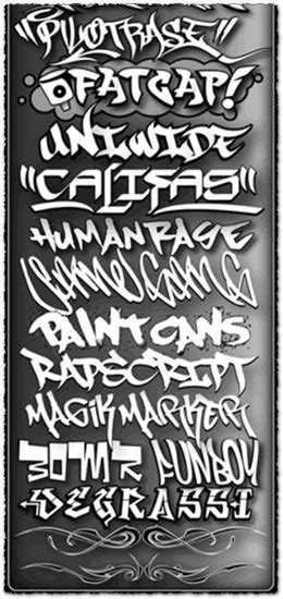 Graffiti Fonts Collection