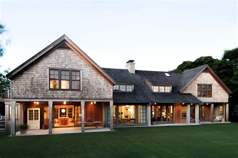 wainscott house modern shingle style architecture hlbh shingle style
