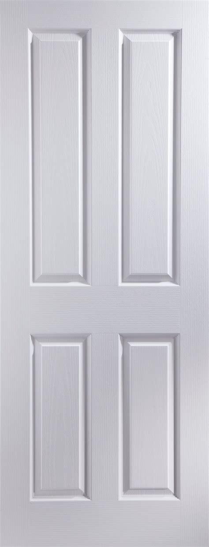 4 Panel Pre Painted White Woodgrain Unglazed Internal Pre Painted Cabinet Doors