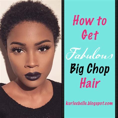 bid shop kurlee how to get fabulous big chop hair