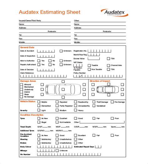 Repair Estimate Template ? 18  Free Word, Excel, PDF