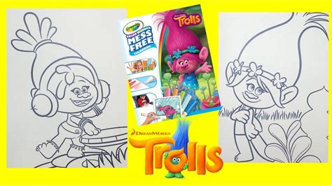 magic ink coloring books crayola color magic ink dreamworks trolls coloring