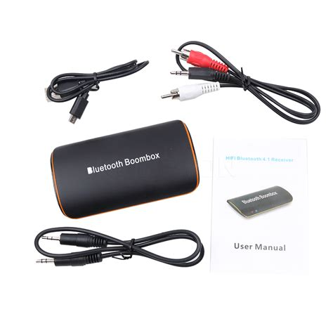 Universal Wireless Stereo Audio Receiver 3 5mm Bluetooth 4 1 high qualtiy b2 universal wireless car bluetooth receiver 3 5mm aux audio stereo bt 4 1