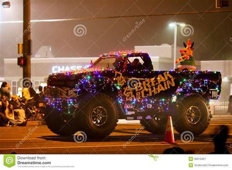 christmas lights parade in keizer oregon editorial