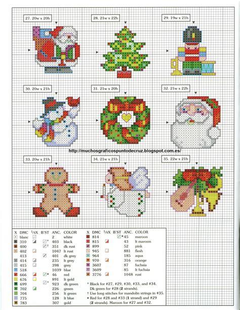cenefas navidad punto de cruz graficos punto de cruz gratis navidad 30