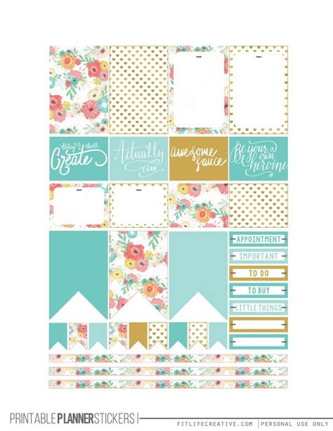 printable happy planner pages pastel blooms printable happy planner stickers 2 pages