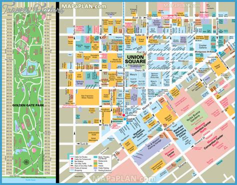san francisco map market san francisco oakland map tourist attractions