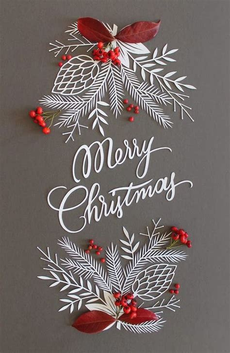 pretty and colorful paper cut christmas decorations