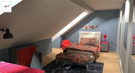 peinture chambre sous pente chambre en sous pente galerie et design peinture chambre