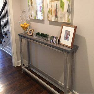 How To Make A Narrow Hallway Table