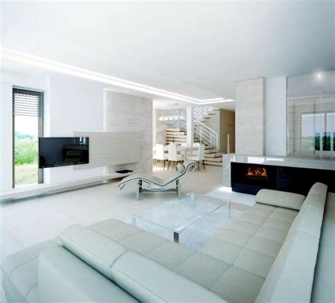 Different Design Styles Home Decor pure white minimalist living room 20 modern design ideas