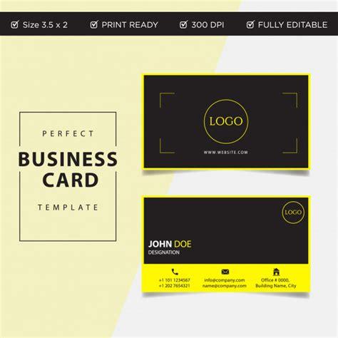 Clean Business Card Template Ai by Modern Creative And Clean Business Card Template In Flat