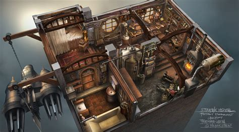 house design games steam steunk interior by ferdinandladera on deviantart