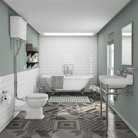 newbury traditional   wall roll top bath suite  victorian plumbing uk